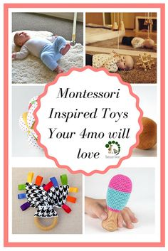 Doing Montessori At Home With Your Baby ( 4 - 6 mo)   Montessori Nature   Montessori Toys                                                                                                                                                      More