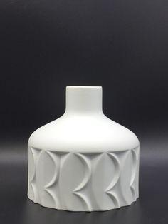 Scherzer 515/1 white bisque porcelain vase.