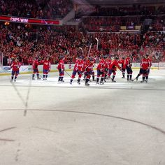 Photo by washingtoncaps - Stick Salute means Caps win!  4-3 in OT for #CapsBruins