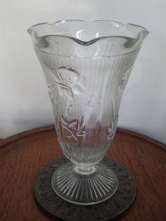 Vintage Iris and Herringbone Jeanette Glass by ThatVintageTexas, $15.00