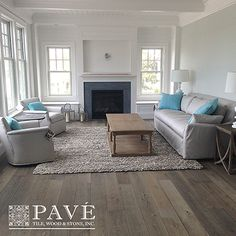 Pavé's Provence Ancienne Vintage Wide Plank Oak Floors are the most natural and authentic pre-finished oak floors on the market.  As artisan and bespoke as wood flooring can get, we work with the tannins and change the composition of the wood. This allows for an accelerated aging process unmatched by Nature Herself.  Our NEW colors - Barn Wood Dark and Barn Wood Light (as seen in the photo above) are the perfect blends of cool greys and warms browns.