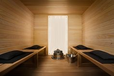With Winter weather like this its no wonder we are gazing at pictures of saunas! Quick, lets get to the nearest spa! Portable Steam Sauna, Sauna Steam Room, Sauna Room, Spa Bathroom Themes, Brown Bathroom Decor, Bathrooms, Interior Garden, Interior Design, Spa Jacuzzi