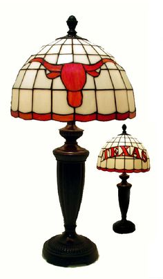Texas Longhorn Tiffany Desk Lamp