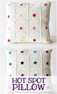 Hot spot pillow, a new crochet pattern on haakmaarraak.nl!