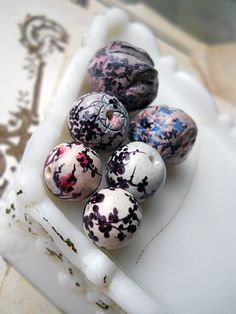 Polymer Clay Beads 6 Rustic Illustrated by shipwreckdandysupply