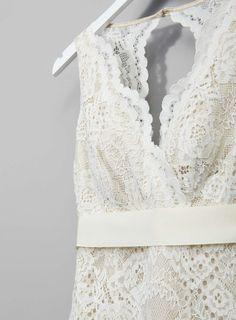 Photo 5 of Ivory Bella Vintage Keyhole Wedding Dress
