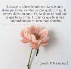 12341340_1678934375656808_2827511711129379370_n Birthday Captions, Hadith Islam, French Greetings, French Words, Wall Quotes, Faith Quotes, Islamic Quotes, Ramadan, Allah
