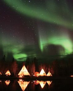 オーロラヴィレッジ(カナダ イエローナイフ) Aurora Village, Yellowknife Canada