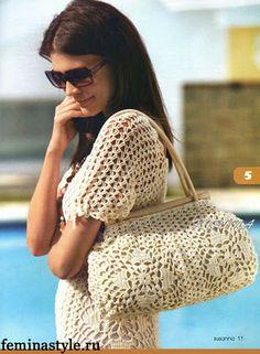 Uncinetto d'oro: Abito e borsa schema uncinetto! Crochet bag chart