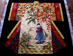 This quilt went home today. I really enjoyed myself on this kimono shaped quilt that belongs to Jerry. Sit back and enjoy the show. I used both new and older elements with the quilting: another c...