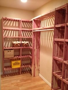 Larger Closet With A Cedar Corner Cubby, Wall Kit And Cubby Add On!