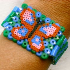 Butterfly bracelet hama beads by Nancy Williams