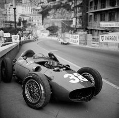Wolfgang von Trips, Ferrari, #38, (finished 8th- abandon at Beaurivage due to clutch) Monaco GP, 1960.