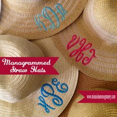 How to Monogram a Straw Hat |