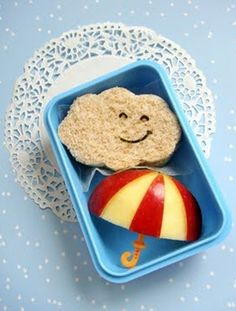 Packing lunch, almost too cute to eat!