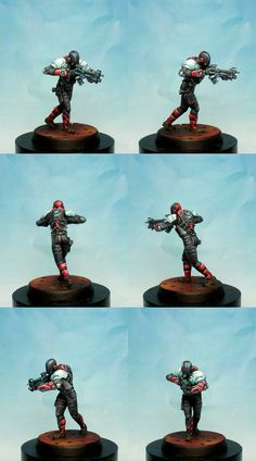 I painted it in the studio of Corvus Belli for the range Infinity It was sculpted by Pedro Fernandez and Jose L...