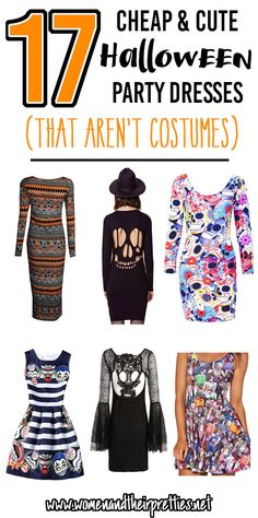 17 Halloween Party Dresses - that aren't costumes. These are all cute, cheap…