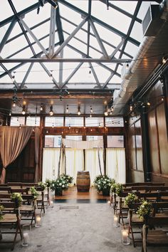 Casamento industrial http://www.stylemepretty.com/2015/05/14/chic-fall-brooklyn-winery-wedding/