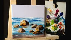 How To Paint Stones and Rocks with acrylic lesson 1