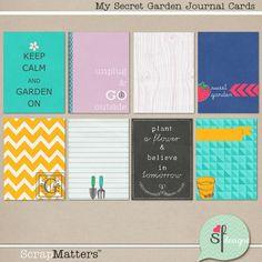 My Secret Garden Journal Cards by Sugary Fancy
