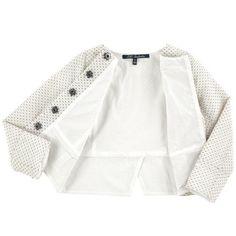 Lili Gaufrette - Short jacquard knit jacket - 162506