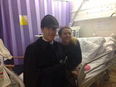Ben paid a visit to a medical centre across the road from Setlock filming to visit a children's ward - 7th February, 2015
