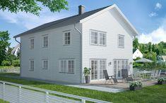 Generöst och traditionellt Ett traditionellt hus med symmetrisk utformning. Villa Anneberg är New England – inspirerat, men väljer du stående panel med lockläkt får huset en mer klassisk, traditionell look. På nedre plan finner du en inbjudande, öppen planlösning mellan det generösa köket och vardagsrummet. Där uppe finns fyra sovrum, …