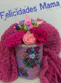 Florero reciclado y chal para mama | Aprender manualidades es facilisimo.com