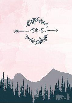 colorado mountain wedding inspiration | mountain wedding invitation | LoveLoveMeDoDesigns | v/ etsy |