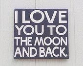 Items similar to I Love You To The Moon And Back Sign Hand painted Black and White on Etsy Love To Meet, I Love You, Never Grow Old, You Are My Everything, Hand Painted Signs, Love Bugs, Local Artists, Wall Signs, Baby Love