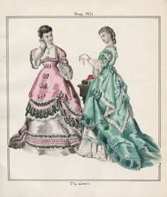 Casey Fashion Plates Detail | Los Angeles Public Library The Queen Date: Monday, May 1, 1871