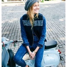 31 Perfect Looks To Copy This October #refinery29  http://www.refinery29.com/october-outfit-of-the-day-ideas#slide-4  A denim jumpsuit: one of the most versatile (and coolest) staples you can have in your closet.Madewell jumpsuit, vest, and hat....