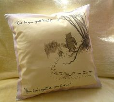 Winnie The Pooh Quote pillow cushion winnie the pooh by RoobyLane, £18.00