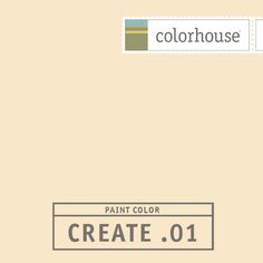 Colorhouse CREATE .01:  Delicious as a creamsicle. Adobe plaster at sunset. A balance between yellow and orange. Use in nurseries and hallways.