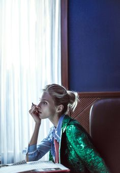 Anja Rubik, Sasha Pivovarova by Chen Man for Vogue China February 2016 11