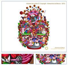 Artesanía Fina de México: Arboles de la Vida - Metepec Estado de México