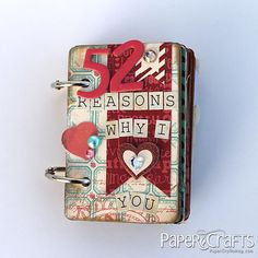 52 Reasons Why I Love You Playing Card Mini Album by @Lemon Windy Robinson