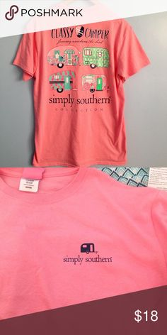 •AVAILABLE TONIGHT• Simply Southern Shirt Brand new. Price is firm unless bundled. SIZE MEDIUM has a light stain as shown in 3rd photo. It may come out with a wash. Light stain on XXL as shown in 4th photo. It may come out with a wash. Simply Southern Tops Tees - Short Sleeve