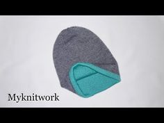 Двухслойная шапка спицами. Двойная двухсторонняя теплая шапка. - YouTube