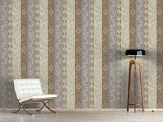Design #Tapete Ländliche Streifen Schlammgrau Cottage, Curtains, Design, Home Decor, Striped Wallpaper, Self Adhesive Wallpaper, Lavender, Wall Papers, Gray