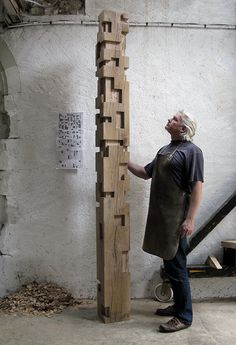 Alban Lanore / Work in progress / Oak column.