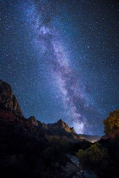 The night sky . Utah