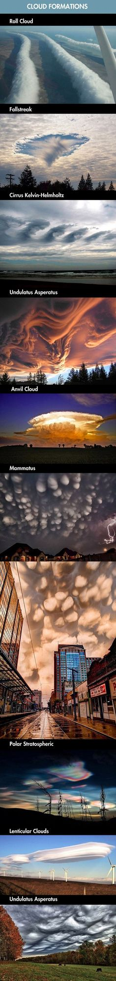 Some incredible cloud formations that exist in nature.