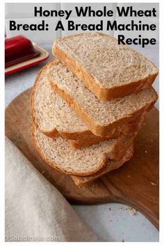 Add more whole grains to your diet with this Honey Whole Wheat Bread recipe you can mix up in your bread maker or with a stand mixer. Soft and light. Whole Wheat Bread Maker Recipe, Honey Wheat Bread Machine Recipe, Best Whole Wheat Bread, Honey Oat Bread, Oatmeal Bread, Brown Bread, Cinnamon Bread, Banana Bread, Bread Machine Mixes