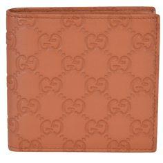 NEW Gucci Men's 150413 Saffron GG Guccissima W/Coin Bifold Wallet