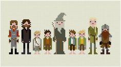 Pixel People The Fellowship of the Ring PDF von weelittlestitches