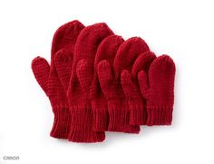 Free Beginner Knit Mittens Pattern-Basic Family Mittens-These Basic Family mittens are the perfect beginner project. Knit in Caron One Pound, one ball of yarn makes up to twelve pairs of mittens! Knitted Mittens Pattern, Crochet Gloves, Knit Or Crochet, Knitting Patterns Free, Free Knitting, Baby Knitting, How To Knit Mittens, Knitting Looms, Finger Crochet
