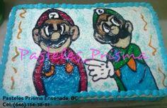Pastel para cumpleaños de Mario y Luigi
