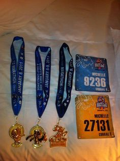 Completed 1/2 Disney marathon Sat + Completed Full Disney marathon Sunday = Goofy medal. Submitted by Michelle Stevenson.