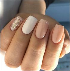 Do you need some design inspiration for your short nails? Fashionable and interesting nail designs are not only reserved for long nails.Check out the 67 NATURAL ELEGANT NAIL DESIGNS collection we have collected below. Cute Acrylic Nails, Acrylic Nail Designs, Cute Nails, Pretty Nails, Nail Art Designs, My Nails, Nails Design, Salon Design, Short Square Acrylic Nails